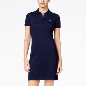 LACOSTE navy blue polo shirt dress